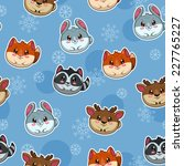 seamless pattern with cute... | Shutterstock .eps vector #227765227
