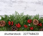 beautiful christmas border from ... | Shutterstock . vector #227768623