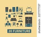 furniture  interior  room ... | Shutterstock .eps vector #227777737