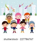 children singing carols | Shutterstock .eps vector #227786767