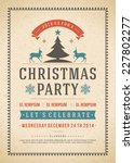christmas party invitation... | Shutterstock .eps vector #227802277