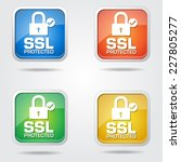ssl protected colorful vector... | Shutterstock .eps vector #227805277