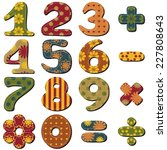 scrapbook numbers and signs on... | Shutterstock .eps vector #227808643