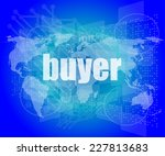buyer word on digital touch... | Shutterstock . vector #227813683