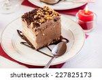 piece of meringue cake with... | Shutterstock . vector #227825173