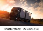 truck on country highway | Shutterstock . vector #227828413