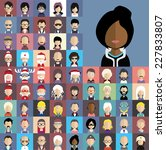 collection of avatars21    65... | Shutterstock .eps vector #227833807