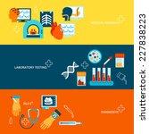 medical tests banner flat set... | Shutterstock .eps vector #227838223
