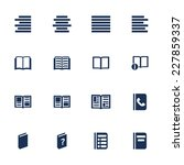 set of icons for book  list and ... | Shutterstock .eps vector #227859337