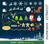 designer      s christmas gift  ... | Shutterstock .eps vector #227860117