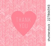 thank you hand drawn card with... | Shutterstock .eps vector #227866543