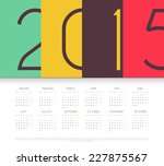 vector illustration of calendar ...   Shutterstock .eps vector #227875567
