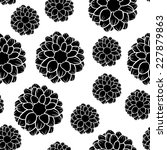seamless pattern of beautiful... | Shutterstock . vector #227879863