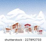 mountains ski resort | Shutterstock .eps vector #227892733