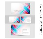 business card design. vector | Shutterstock .eps vector #227898793
