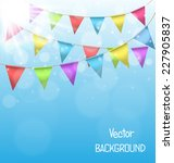 multicolored bright buntings... | Shutterstock .eps vector #227905837