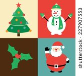 christmas collection   vector... | Shutterstock .eps vector #227907553