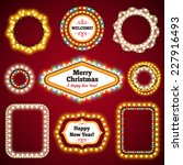 christmas lights frames with a... | Shutterstock .eps vector #227916493