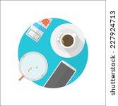 flat vector icon for break... | Shutterstock .eps vector #227924713
