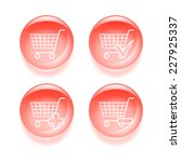 glassy shopping icons. 2d...