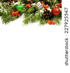 christmas background with balls ... | Shutterstock . vector #227925547