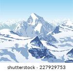 vector winter landscape in the...   Shutterstock .eps vector #227929753