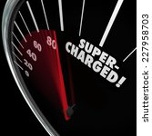 supercharged word on a... | Shutterstock . vector #227958703