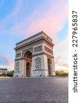 arc de triomphe paris city at... | Shutterstock . vector #227965837