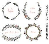 vector wreaths and laurel... | Shutterstock .eps vector #227982223