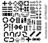 vector arrows icon set | Shutterstock .eps vector #227983387