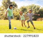 family of three with teenager... | Shutterstock . vector #227991823