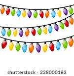 christmas light bulbs on white | Shutterstock . vector #228000163