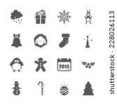 flat concept  set modern design ... | Shutterstock .eps vector #228026113