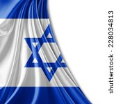 israel flag and white background | Shutterstock . vector #228034813