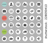 set of web icons for business ... | Shutterstock . vector #228050413