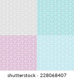 isolated wave seamless pattern... | Shutterstock .eps vector #228068407
