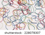 lot colorful rubber gum... | Shutterstock . vector #228078307