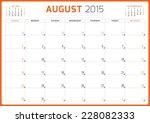 calendar planner 2015 template... | Shutterstock .eps vector #228082333