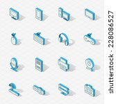 3d vector isometric design... | Shutterstock .eps vector #228086527