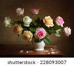 still life with roses | Shutterstock . vector #228093007