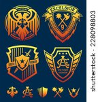 shield crest emblem set