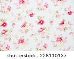 vintage floral fabric | Shutterstock . vector #228110137