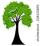 decorative green tree...   Shutterstock .eps vector #228122893