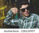 model man portrait with... | Shutterstock . vector #228124957
