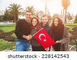 Group Of Turkish Friends In...