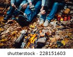Couple Camping In The Autumn...