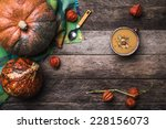 Rustic Style Pumpkins And Soup...