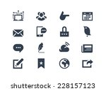 social and communication icons | Shutterstock .eps vector #228157123