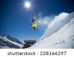 skier in high mountains during... | Shutterstock . vector #228166297