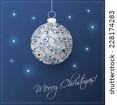 christmas card background with... | Shutterstock .eps vector #228174283